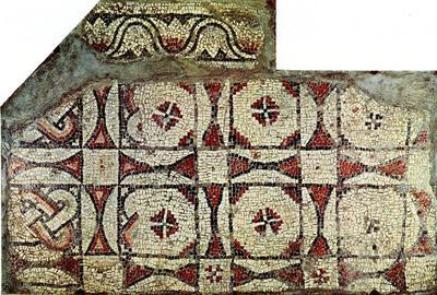 Ravenna, Il cosiddetto Palazzo di Teodorico, Pavimento musivo, Portico A3