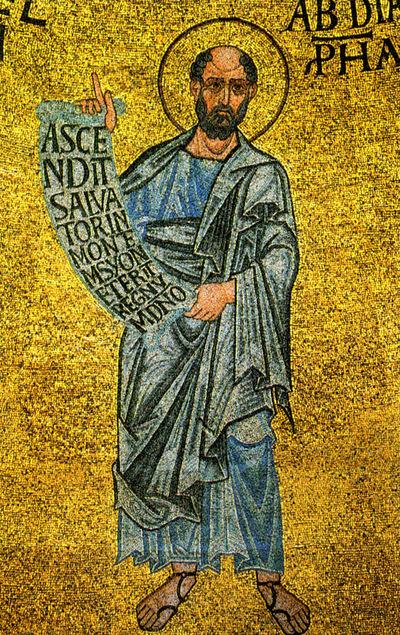 Venezia, Basilica di San Marco, Cupola dell'Emmanuele, Profeta Abdia