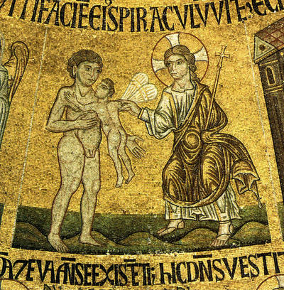 Venezia, Basilica di San Marco, Cupola della Genesi, Infusione dell'anima in Adamo