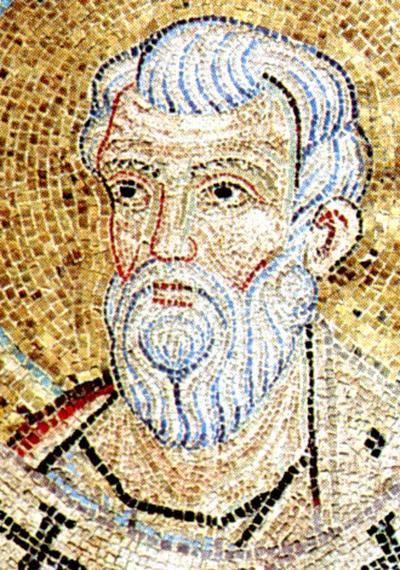 Venezia, Basilica di San Marco, Cupola terza di Giuseppe, Clipeo con San Matteo, particolare