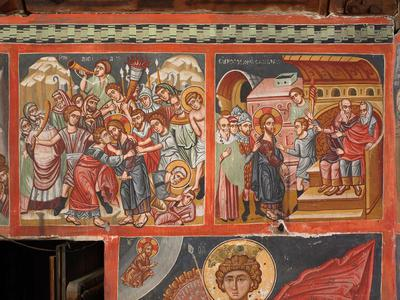 Holy Bishopric of Morphou: Mural painiting of the Betrayal, Church of the Holy Cross of Ayiasmati (6-6,58,59)