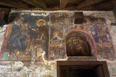 Holy Bishopric of Morphou: Mural painting of the founders, the prophets above, Church of the Holy Cross of Ayiasmati (7-7,116,117, 118,119)