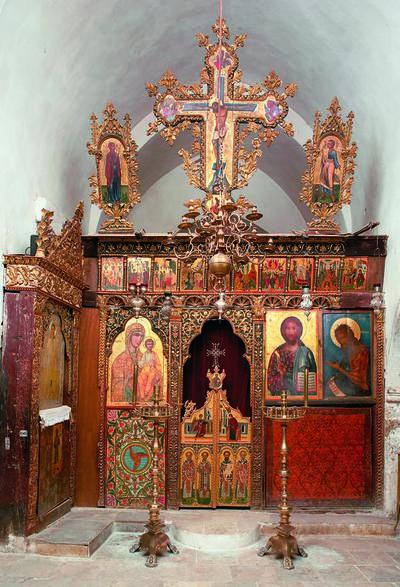 Holy Bishopric of Morphou:The iconostasis of the chapel of Saint John Lampadistis, Monastery of Saint John Lampadistis in Kalopanayiotis
