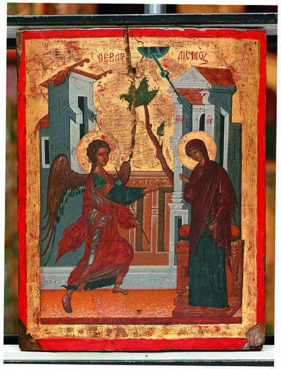 Holy Bishopric of Morphou: The Annunciation to the Theotokos , Monastery of Saint John Lampadistis in Kalopanayiotis