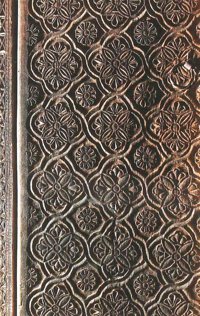 Holy Bishopric of Morphou: The woodcarved door of the church, Church of the Holy Virgin in Moutoullas