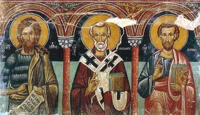 Holy Bishopric of Morphou: Saints John Prodromos, Nicholas and the Evangelist Luke, Church of the Theotokos in Galata