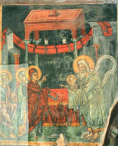Holy Bishopric of Morphou: The entrance of the Theotokos into the Temple, Church of the Archangel Michael in Pedoulas