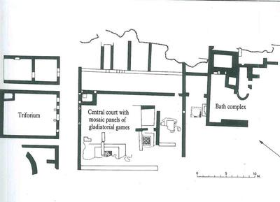 Bank of Cyprus Cultural Foundation: Plan of the House of Gladiators, Kourion