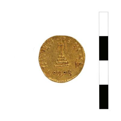 Byzantine Museum of Holy Bishopric of Tamasos and Oreinis (Cyprus): Solidus of Constans II (641-668) (TN81) Reverse