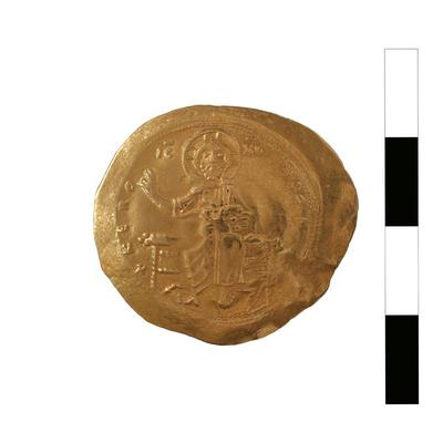 Byzantine Museum of Holy Bishopric of Tamasos and Oreinis (Cyprus): Hyperpyron of Alexios I Komnenos (1081-1118) (TN122) Obverse
