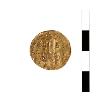 Byzantine Museum of Holy Bishopric of Tamasos and Oreinis (Cyprus): Solidus of Constans II (641-668) (TN3), Obverse