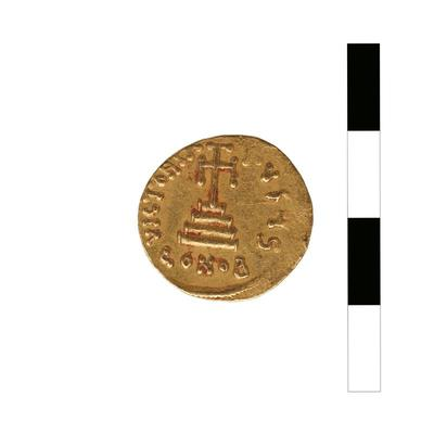 Byzantine Museum of Holy Bishopric of Tamasos and Oreinis (Cyprus): Solidus of Constans II (641-668) (TN3), Reverse