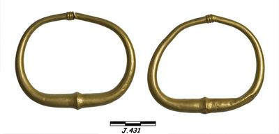Department of Antiquities Republic of Cyprus: Pair of gold bracelets (J. 431) (Keryneia-Κερύνεια)