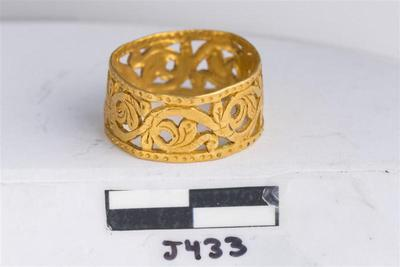 Department of Antiquities Republic of Cyprus: Gold finger ring (J.433)