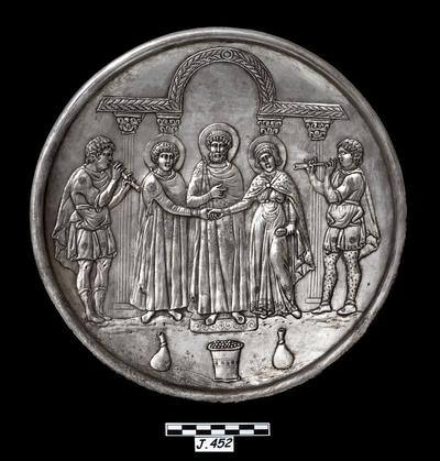 Department of Antiquities Republic of Cyprus: Silver dish (J.452)