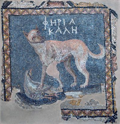 Department of Antiquities Republic of Cyprus: Fragment of mosaic