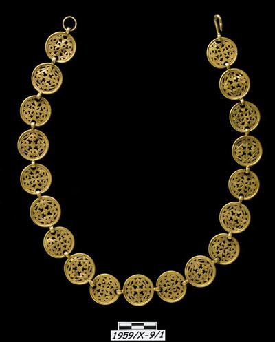 Department of Antiquities Republic of Cyprus: Gold necklace (1959/Χ-9/1)