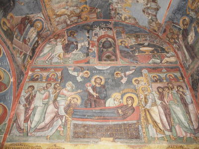 Department of Antiquities, Republic of Cyprus, Nikitari, Church of Panagia (Our Lady) of Asinou, nave, west wall, wall paintings