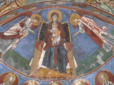 Department of Antiquities, Republic of Cyprus, Lagoudera, Church of Panagia (Our Lady) tou Arakos, apse conch, wall paintings