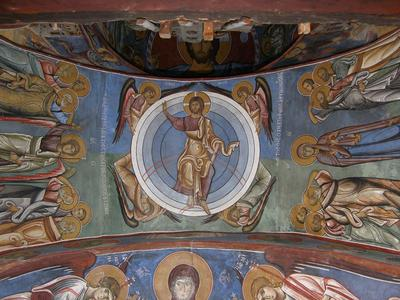 Department of Antiquities, Republic of Cyprus, Lagoudera, Church of Panagia (Our Lady) tou Arakos, bema vault, wall paintings