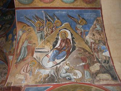 Department of Antiquities, Republic of Cyprus, Lagoudera, Church of Panagia (Our Lady) tou Arakos, nave, south side of west vault, wall painting