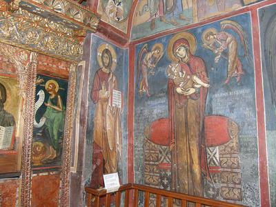 Department of Antiquities, Republic of Cyprus, Lagoudera, Church of Panagia (Our Lady) tou Arakos, nave,  south wall under the dome, wall paintings
