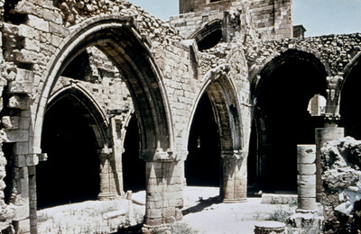 Department of Antiquities, Republic of Cyprus, Walled city of Nicosia, Church of Panagia Hodegetria (Bedesten or Bedestan), South aisles and nave from the south-west (D19343)
