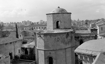 Department of Antiquities, Republic of Cyprus, Walled city of Nicosia, Church of Panagia Hodegetria (Bedesten or Bedestan), East view of the church (J15572)