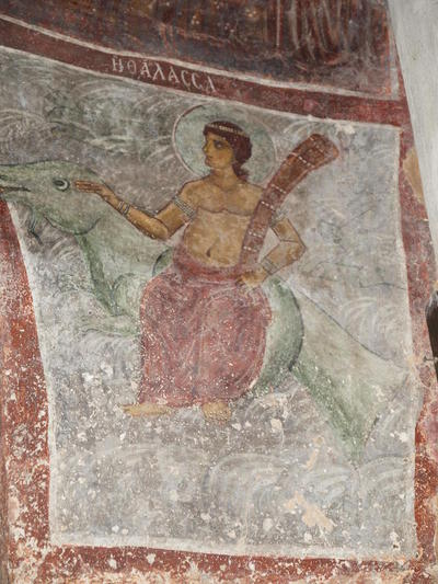 Department of Antiquities, Republic of Cyprus, Kakopetria, Church of Agios Nikolaos tis Stegis (St. Nicholas of the Roof), east side of north-west pier, wall painting