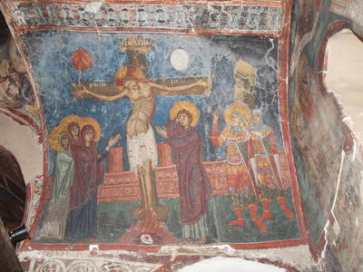 Department of Antiquities, Republic of Cyprus, Kakopetria, Church of Agios Nikolaos tis Stegis (St. Nicholas of the Roof), nave, west side of vault, north arm, wall painting