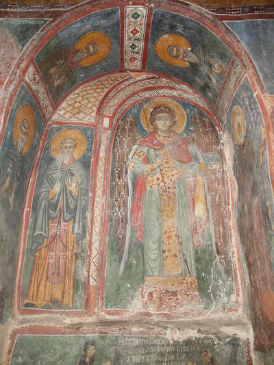 Department of Antiquities, Republic of Cyprus, Kakopetria, Church of Agios Nikolaos tis Stegis (St. Nicholas of the Roof), narthex, north-east recess, wall paintings