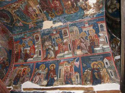 Department of Antiquities, Republic of Cyprus, Pelendri, Church of the Holy Cross, nave, north side of the west vault, wall paintings