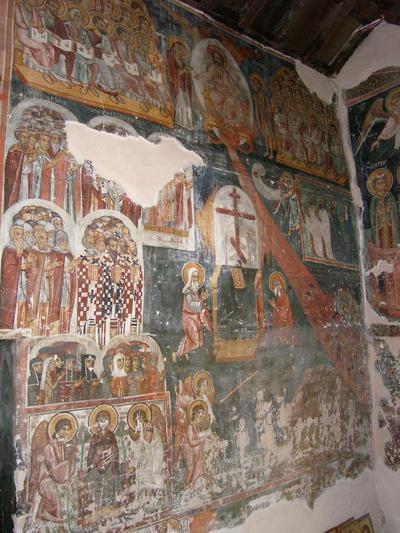 Department of Antiquities, Republic of Cyprus, Kalopanagiotis, Monastery of Saint John Lampadistis, narthex, south half of east wall, wall paintings