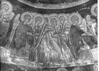 Department of Antiquities, Republic of Cyprus, Milia, Monastery of Panagia (Our Lady) of Avgasida, south aisle of katholikon, dome, wall paintings (C5759-1-3)