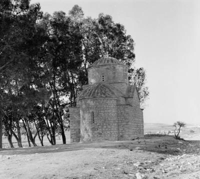 Department of Antiquities, Republic of Cyprus, Lysi, Church of Saint Themonianos (or Euphemianos), north-east view of church (J23702-3)