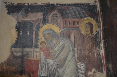 Department of Antiquities, Republic of Cyprus, Kaliana, Church of Saint Anna, north central recess, wall painting