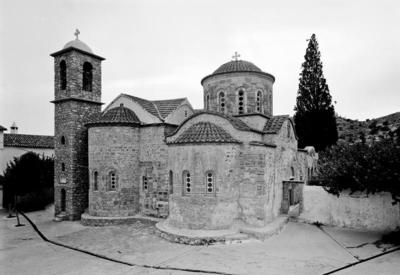 Department of Antiquities, Republic of Cyprus, Koutsoventis, Monastery of Saint John Chrysostom, general view of katholikon and chapel from north-east (B66043)
