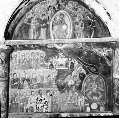 Department of Antiquities, Republic of Cyprus, Kalograia, Church of Christ Antiphonitis, nave, north wall, wall paintings (B12466)