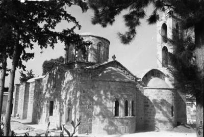 Department of Antiquities, Republic of Cyprus, Trikomo, Church of Panagia, south-east view of church (J8058) Photograph taken 1965