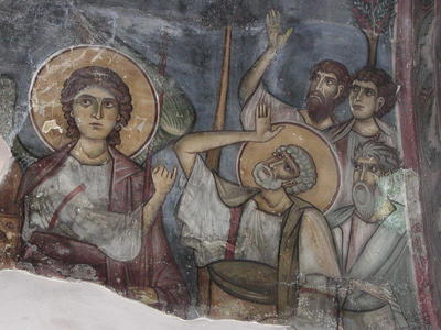 Department of Antiquities, Republic of Cyprus, Trikomo, Church of Panagia, north side of east vault, wall painting