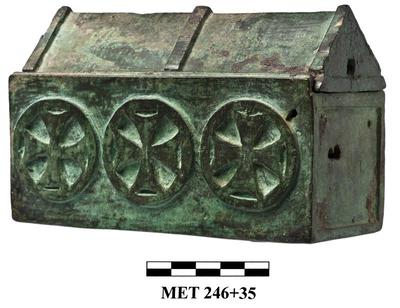 Cyprus Medieval Museum: Reliquary Box (MM503, Met. 246)