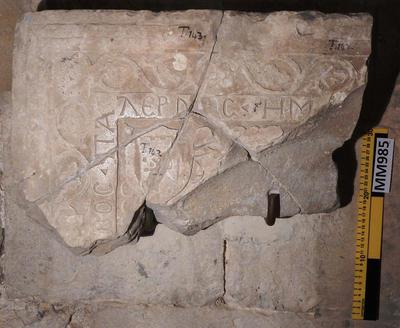 Cyprus Medieval Museum: Tombstone (MM985, T. 143 )