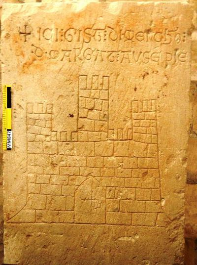 Cyprus Medieval Museum: Tombstone (MM847)