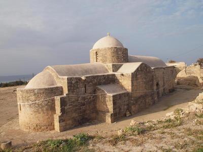 Department of Antiquities, Republic of Cyprus, Kouklia, Church of Panagia Katholiki, north-east view of church