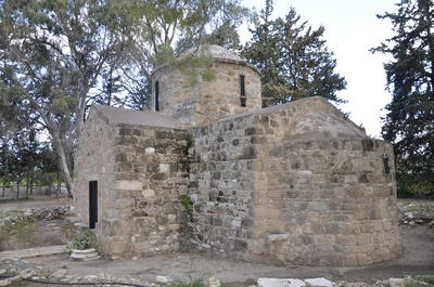 Department of Antiquities, Republic of Cyprus, Acheleia, Church of Saint Theodosius, south-east view of church