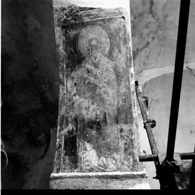 Department of Antiquities, Republic of Cyprus, Akanthou, Church of Panagia (Our Lady) Pergaminiotissa,  intrados of south-east arch, wall painting (B32222)