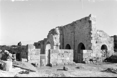 Department of Antiquities, Republic of Cyprus, Rizokarpaso, Basilica of Saint Asomatoi, Aphentrika (in ruins), view from north-west (J9378)