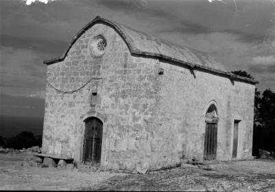 Department of Antiquities, Republic of Cyprus, Aigialousa (or Yialousa), Church of Saint Marina at Pyrgos, south-west view of church (J5940)