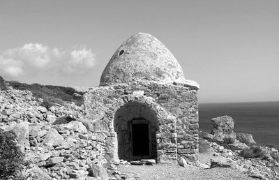 Burial chamber of the Roman/Early Christian necropolis of Palatia site, Saria islet (Dodecanese): the beehive cupola type.