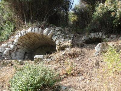 Barrel-vaulted burial chamber of the Harbour necropolis of Ephesus, Turkey